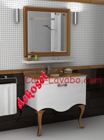 cam lavabolu banyo dolabı